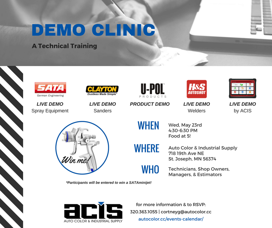 Auto Color & Industrial Supply Demo Clinic